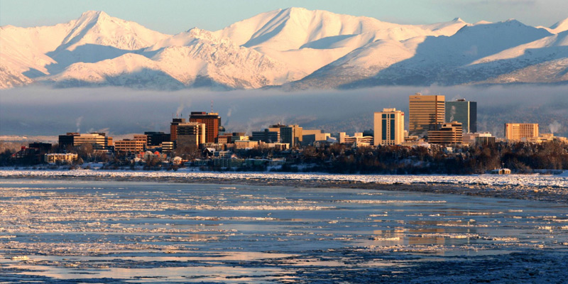 View of Anchorage, Alaska from Earthquake Park