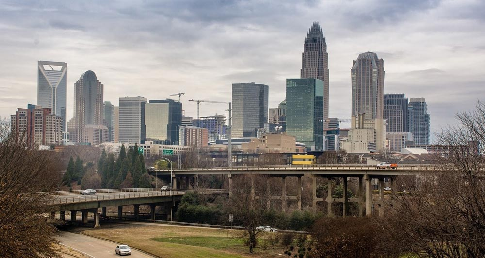 A view of the Charlotte skyline