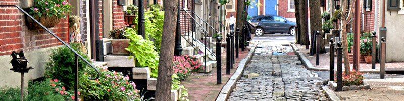 A charming and colorful Philly neighborhood street