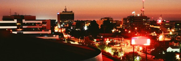 View of Bakersfield at night