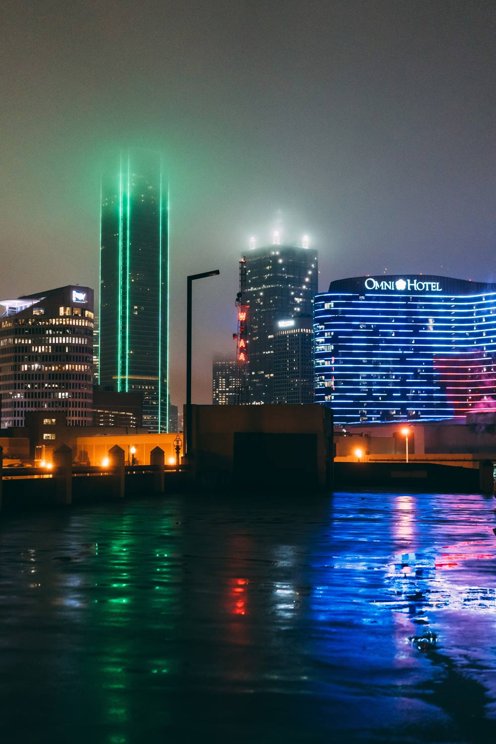 The lights of Dallas at night
