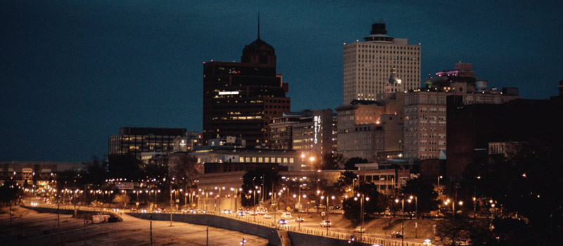 Downtown Memphis at night