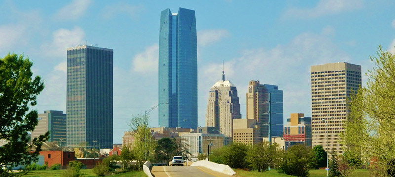 View of downtown Oklahoma City, OK