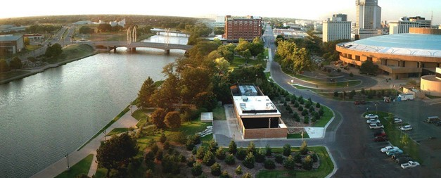 Panoramic view of downtown Wichita, KS