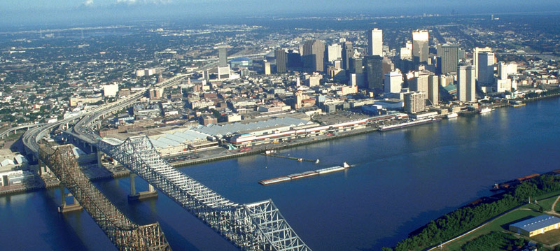 Aerial view of New Orleans, LA