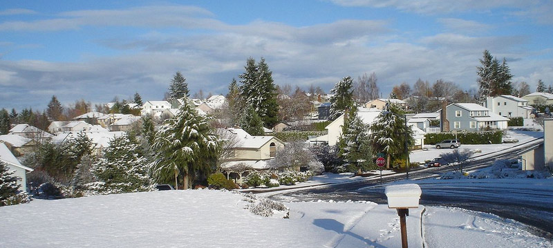 South Salem, Oregon, covered in snow